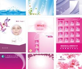 Cosmetics design background