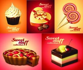 Different Desserts vector art