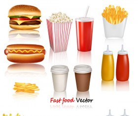 Western fast food vector material