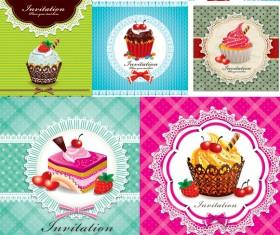 Dessert cake vector material
