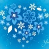 Blue Floral Heart 01 vector