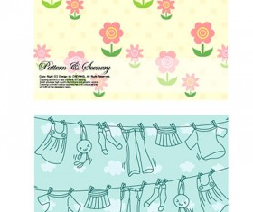 Lovely Child elements background 2 vector graphic