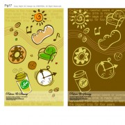 Link toLovely child elements background 4 vector graphic