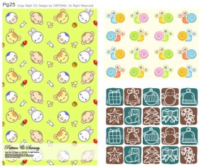 Lovely Child elements background 11 Vector Graphic
