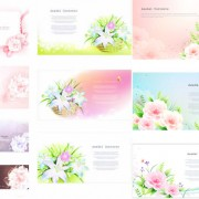 Link toFantasy lily background vector
