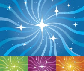 Starlight and rotational lines back vector