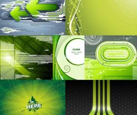 Green background design elements