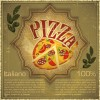Retro pizza background