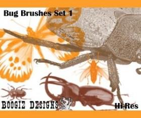 HiRes Bug 1 Photoshop Brushes