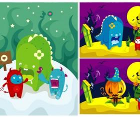 Color cartoon illustration vector graphics