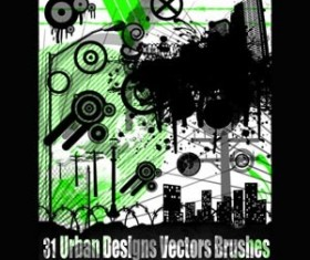 Urban Designs Set of vectors Photoshop Brushes