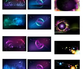 Colorful technology background vector graphics