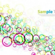 Link toColorful circles design vector background