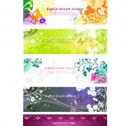 Link toBeautiful decorative pattern banner vector graphic