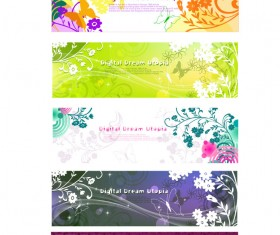 Beautiful decorative pattern Banner Vector Graphic