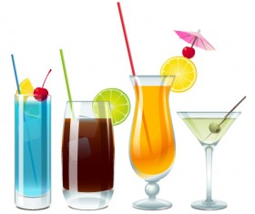 Different drink vector set