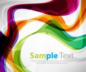 Colorful Curve Design Vector Background