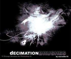 Decimation Photoshop Brushes