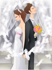 Sweet wedding set 79 vector