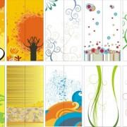 Link toGlass door background pattern vector graphics