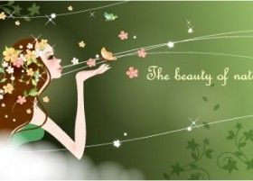 cartoon beauty Design Vector Background 04