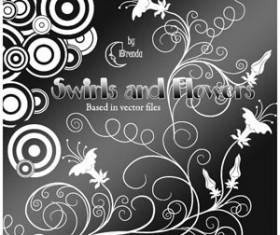 Swirls And Flowers Brushes Photoshop Brushes