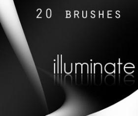 20 illuminate Photoshop Brushes