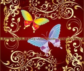 butterfly Flowers Set of vector Photoshop Brushes