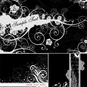 Link toBlack background flower decoration vector graphic
