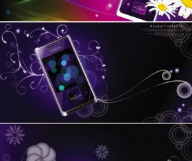 Purple mobile phone background