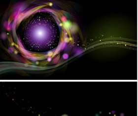 Colorful light dot background vector