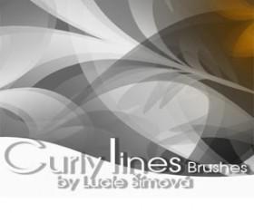 CurlyLines Brushe Photoshop Brushes