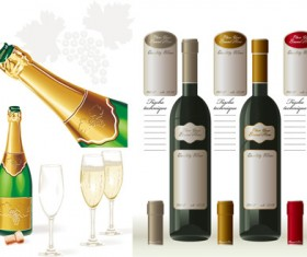 Wine champagne vector
