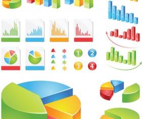 Data statistics color map vector