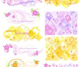 Floral patterns background vector