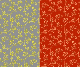 The leaves of decorative pattern background vector Graphic