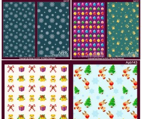 Background Christmas elements vector graphic
