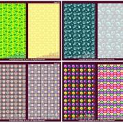 Link toLovely shape design backgrounds vector set
