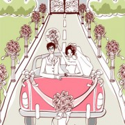 Link toSweet wedding set 101 vector