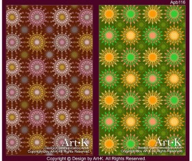 Colorful flowers background 2 vector