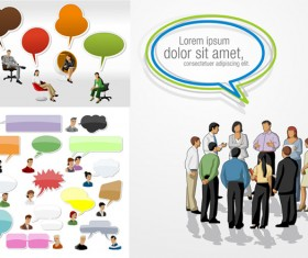 Cartoon characters and dialog box