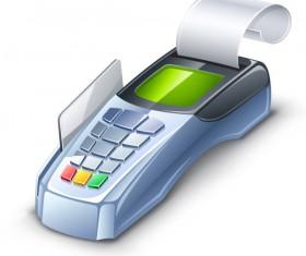 3D card machine vector