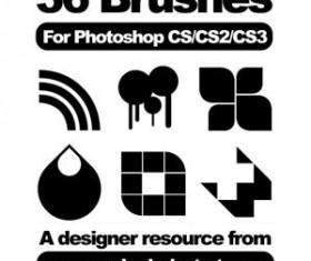 36 Set of vector Photoshop Brushes