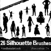 Silhouettes Photoshop Brushes