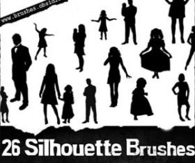 Silhouettes Photoshop Brushes