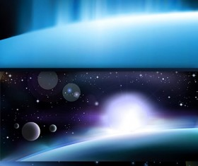 Glare space background vector
