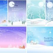 Link toWinter snow background design vector