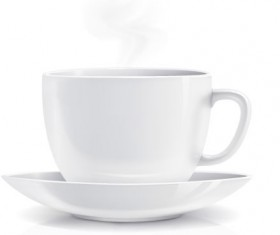 White coffee cup design vector