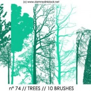 Link toTrees photoshop brushes