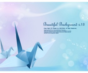 The cranes and fantasy background